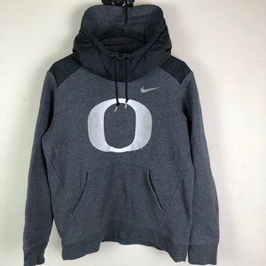 Nike Oregon Ducks Pull Over Hoodie Zip Collar M